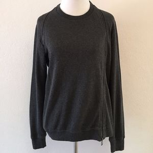All Saints Zipper Sweatshirt Top Size Medium Crew